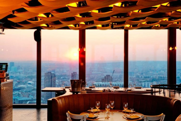 Duck and Waffle London date ideas