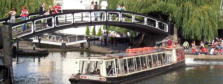 London Waterbus - 100 London Date Ideas