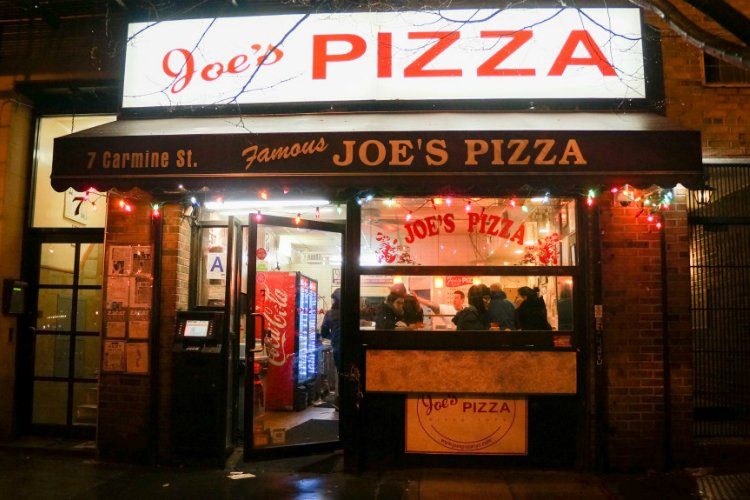 Joe's Pizza best food in New York