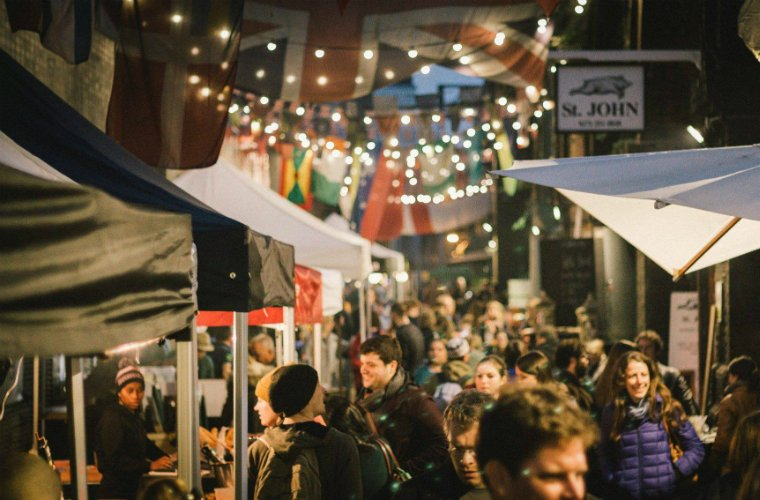 Maltby Street - food market London