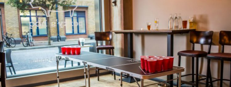 Porky's Beer Pong - 100 London Date Ideas