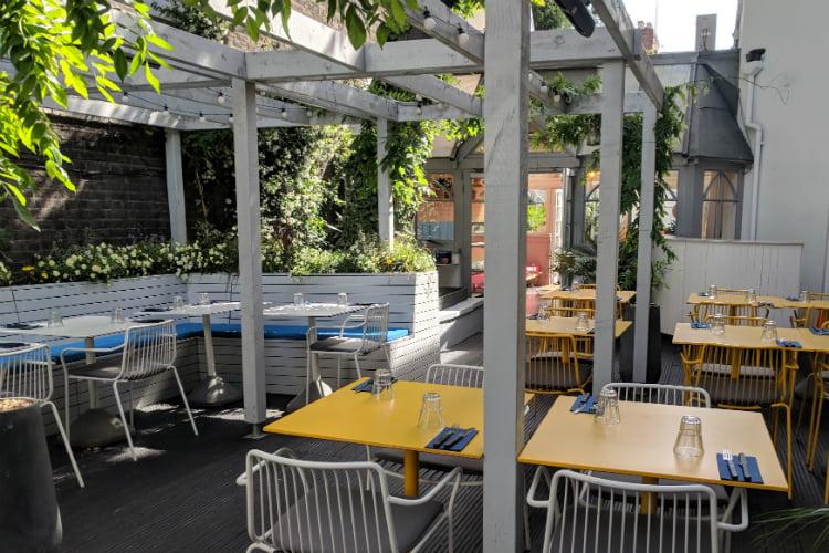 Pomonas al fresco dining terrace