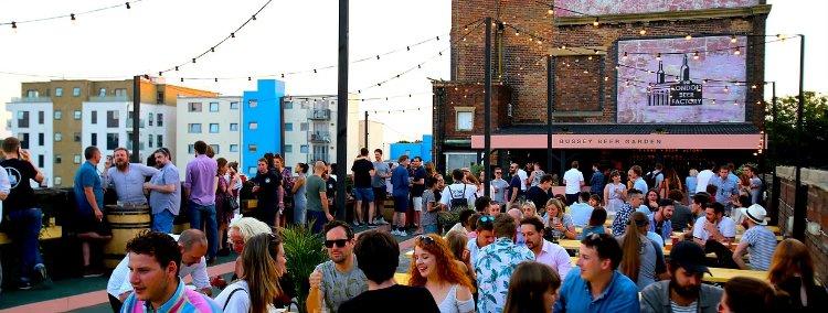 Bussey Beer Garden - rooftop bars in London
