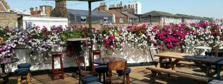 Fox E8 - best rooftop bars in London