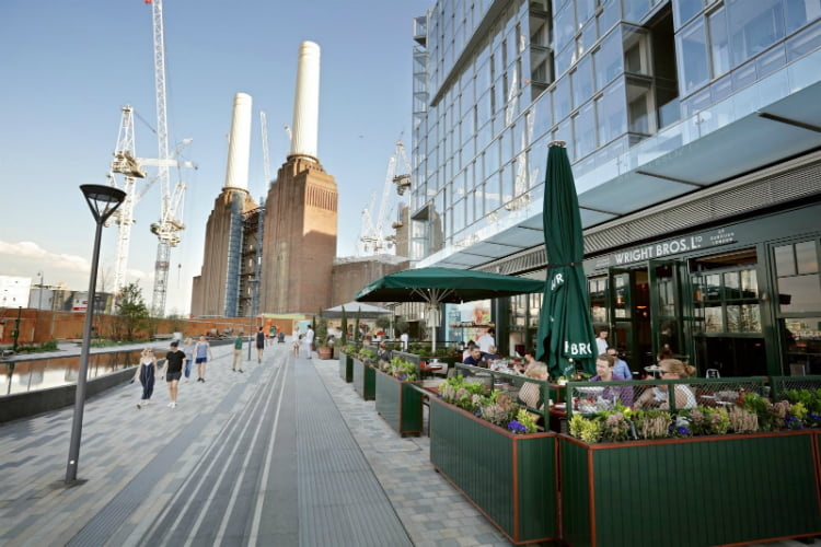 Wright Brothers Battersea - al fresco dining London