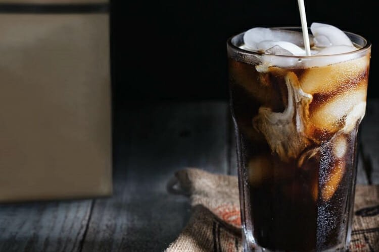 Press iced coffee