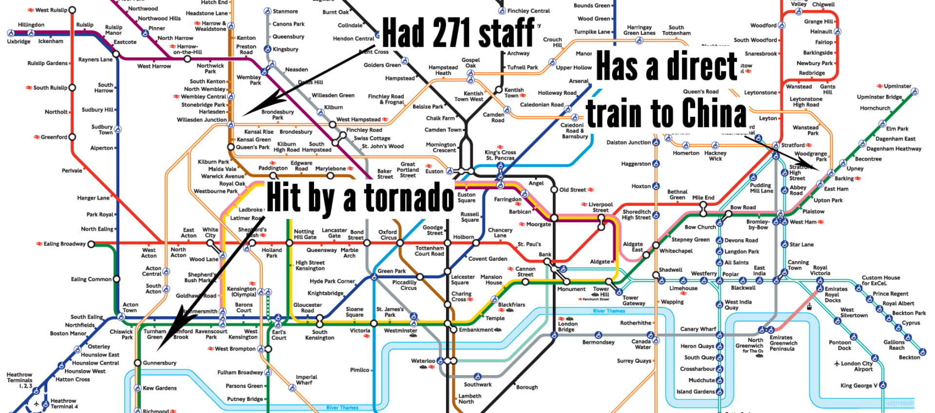 An Interesting Fact About Every London Tube Station | Tube