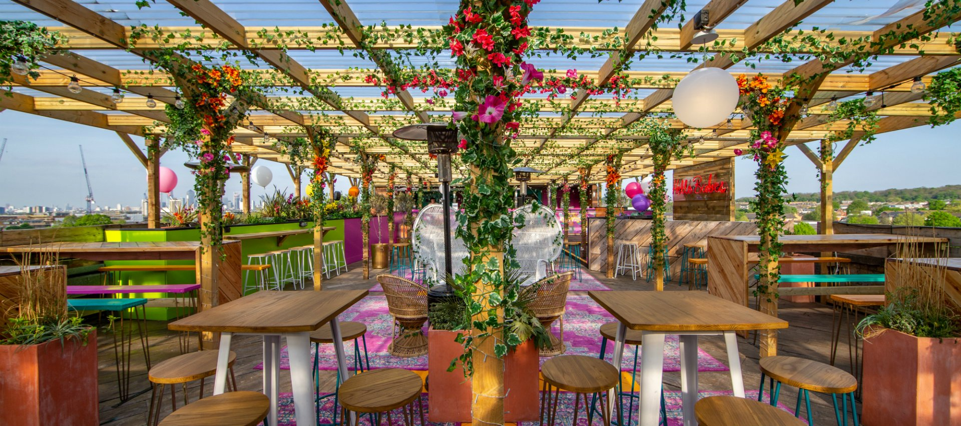 Bussey Rooftop Bar Colourful High Rise Paradise With