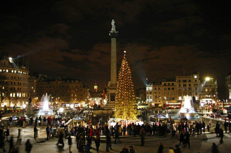 Trafalgar Square Christmas Lights 2018