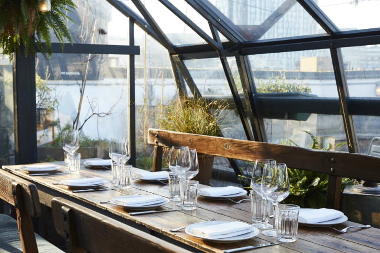 The Culpeper - winter rooftop bars London