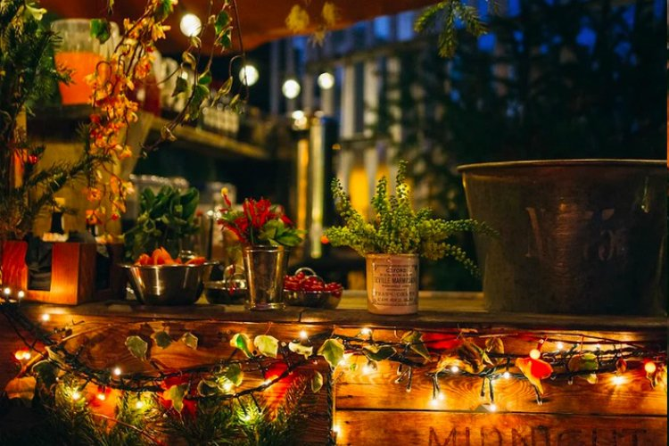 winter rooftop bars London - Midnight Apothecary