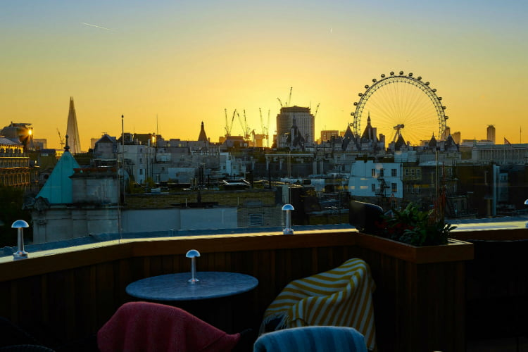 The Trafalgar Vista winter rooftop bars London