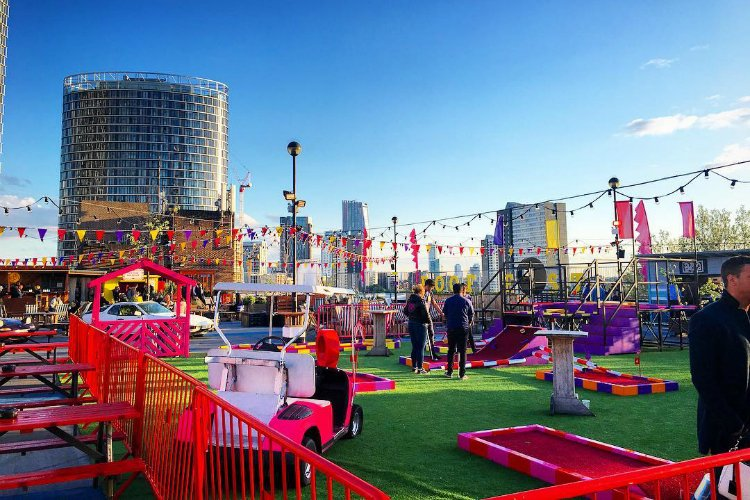 Roof East - rooftop activity bars in London