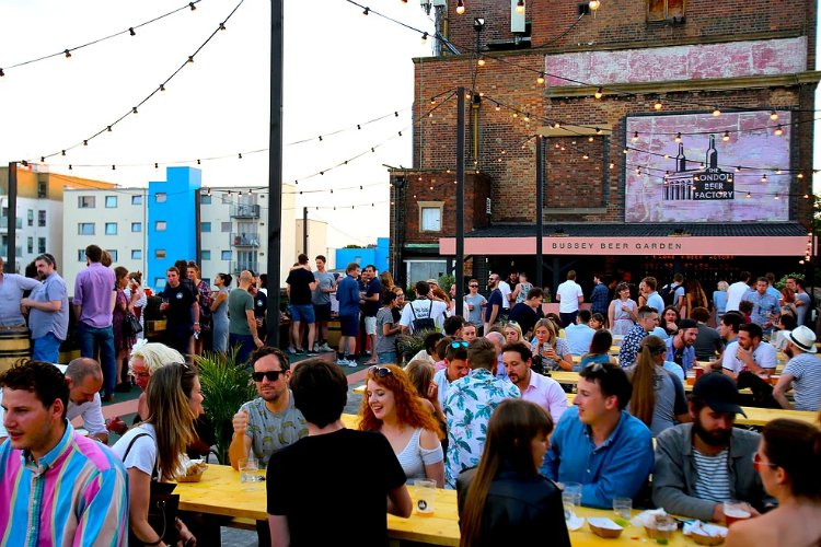 Bussey Beer Garden - rooftop bars in London