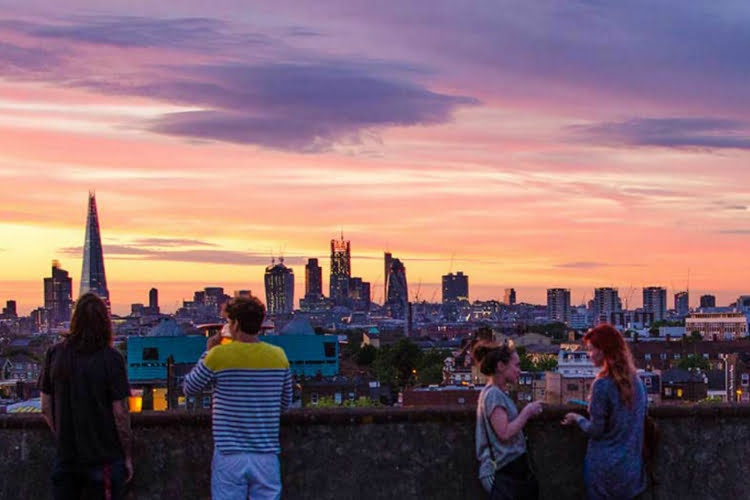 Franks - rooftop bars in London