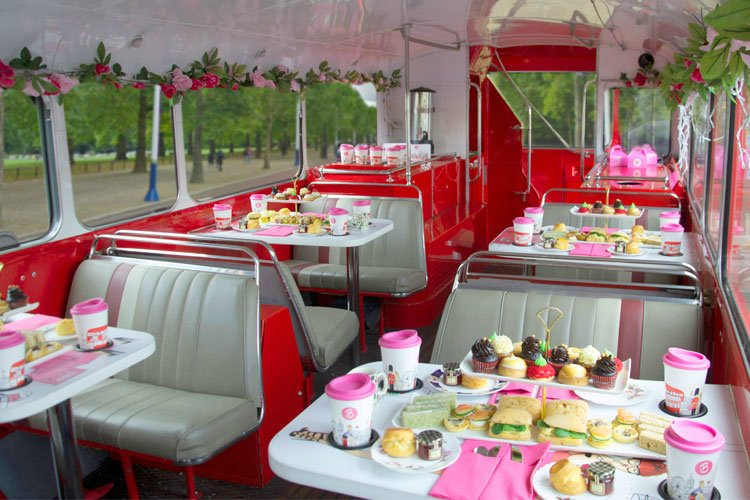 Afternoon Tea in London - B Bakery Bus