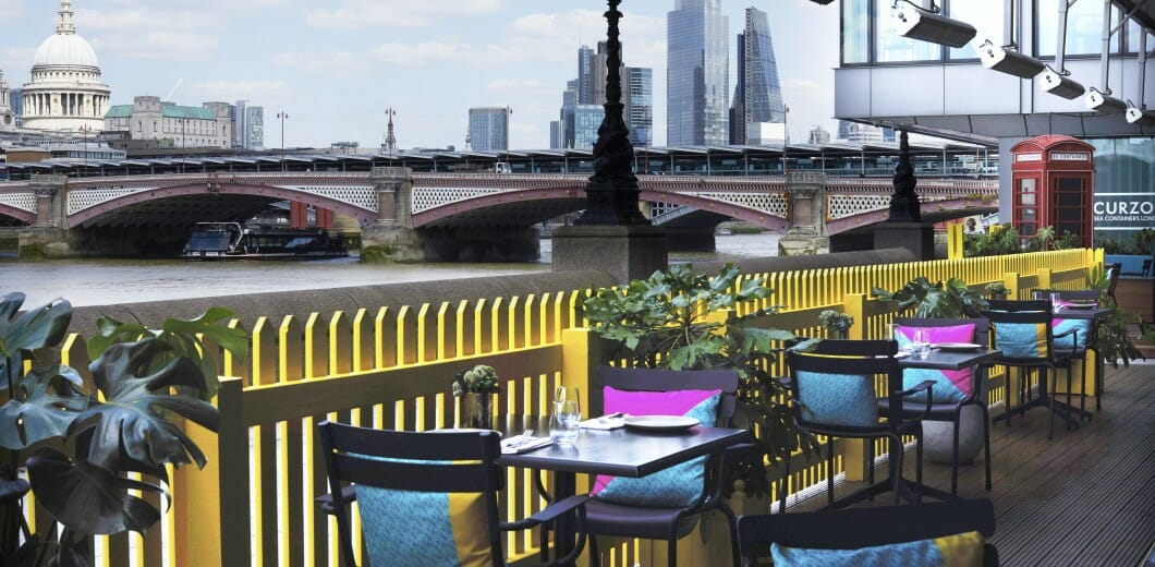 Sea containers al fresco terrace