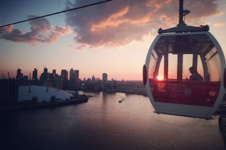 London date ideas cable car dining