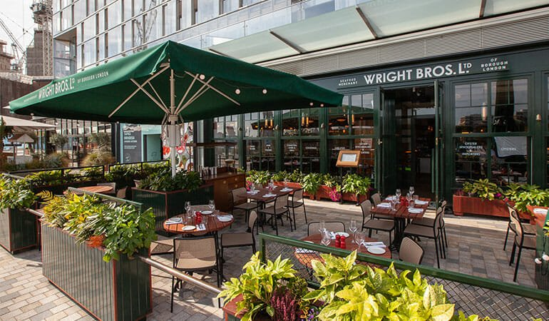 Wright Brothers battersea riverside dining