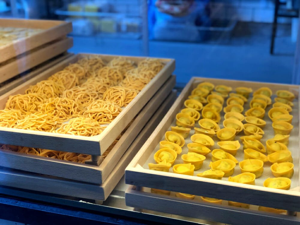 Fresh pasta at Officina 00