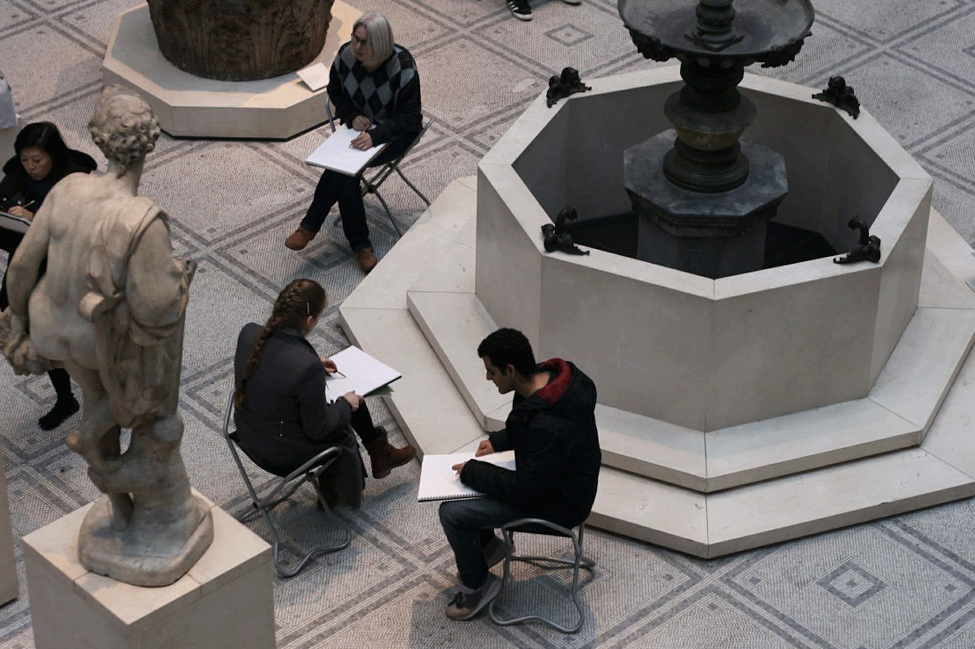 museum sketching classes London