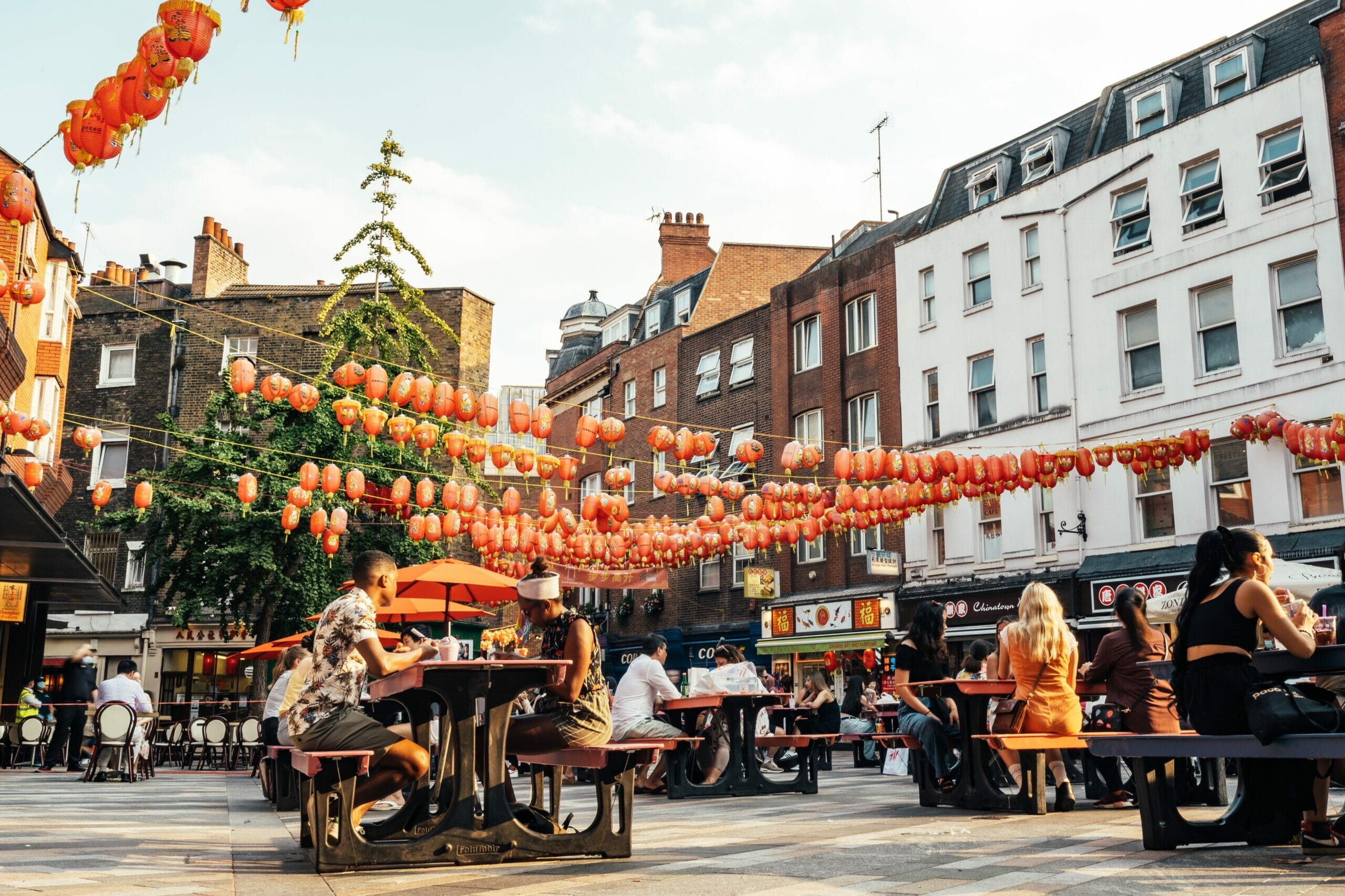 chinatown pedestrianised london