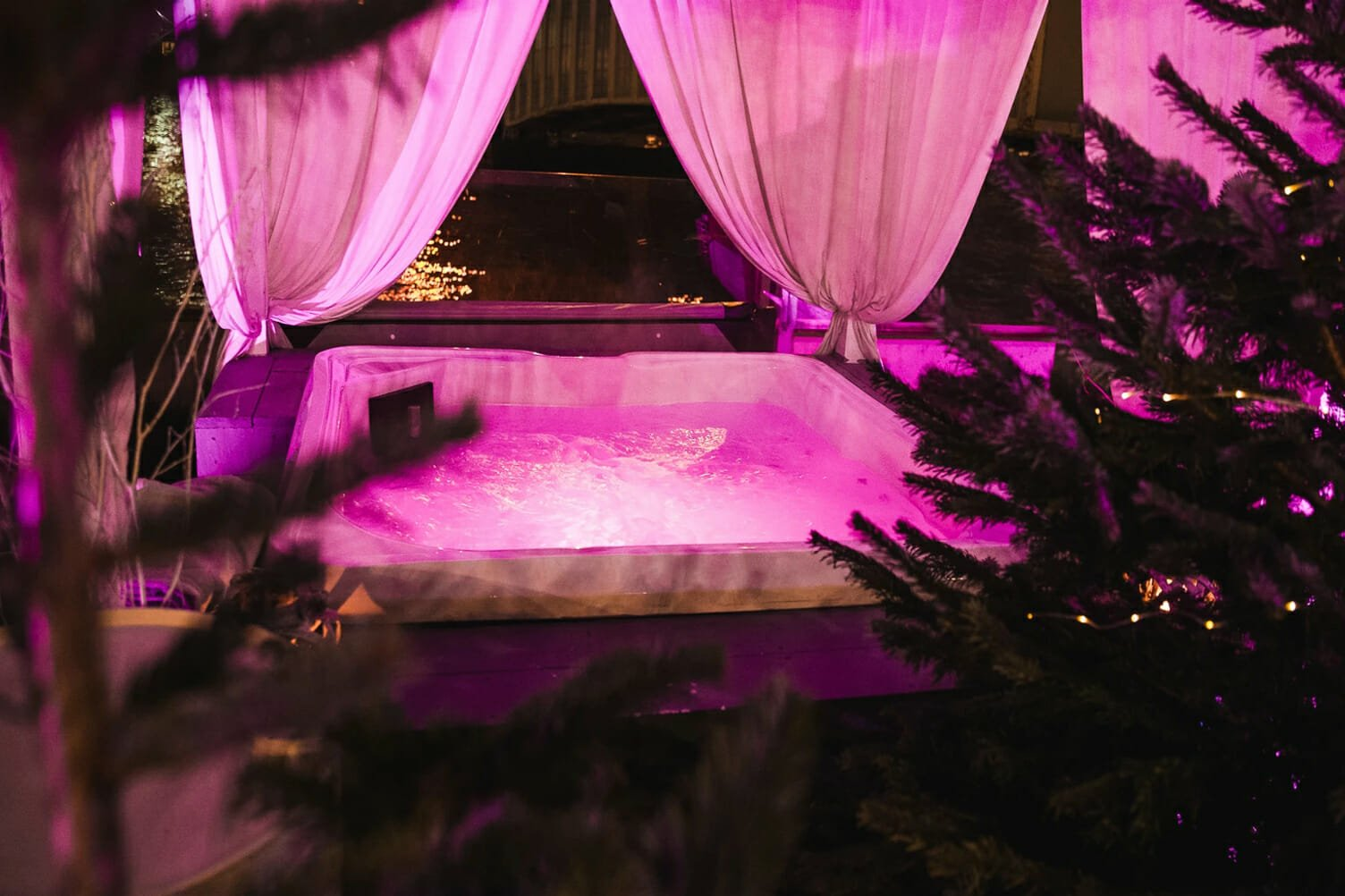 Winterland hot tub