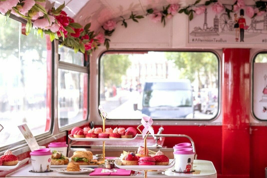 B Bakery bus afternoon tea London